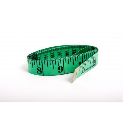 Krejčovský metr 150 cm - zelená
