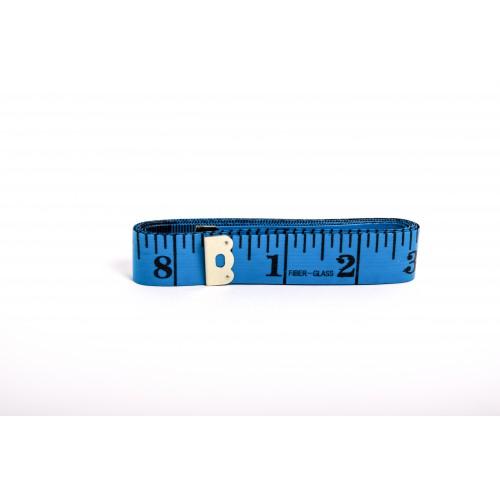 Krejčovský metr 150 cm - modrá