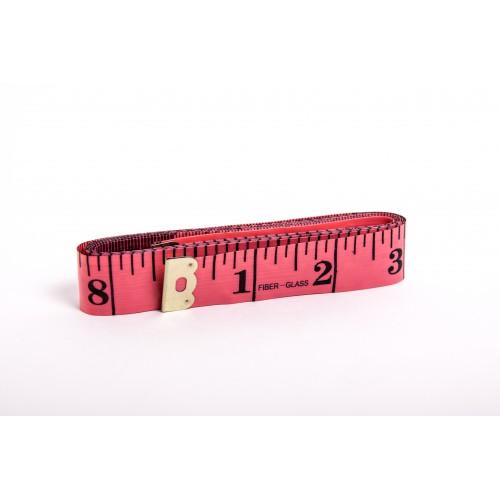Krejčovský metr 150 cm - červená