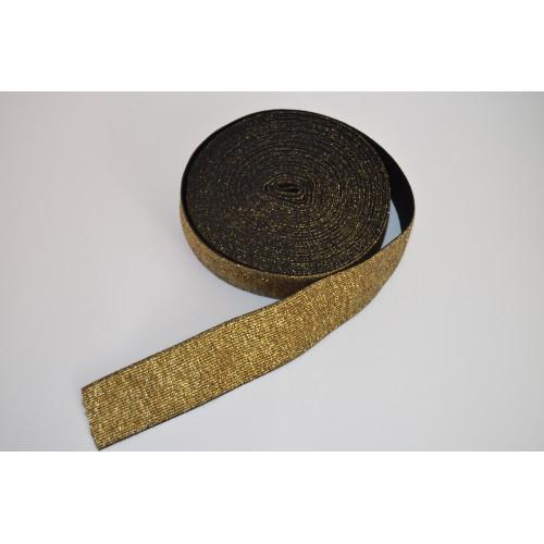 Metalická pruženka černozlatá
