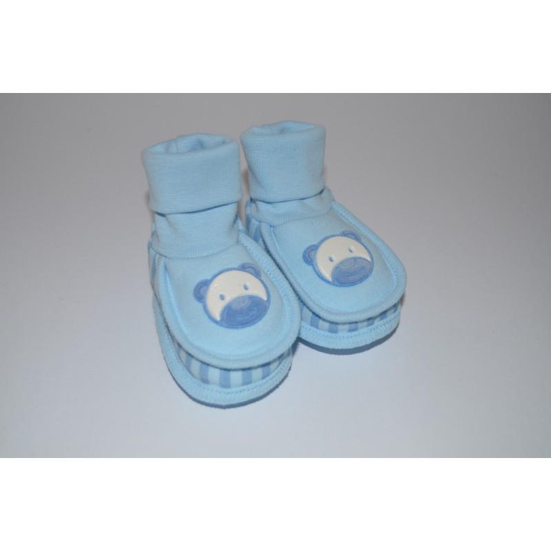 Kojenecké bačkůrky modré
